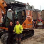 Staffs Construction Ltd Hits The Mark !! With A New Case Excavator.
