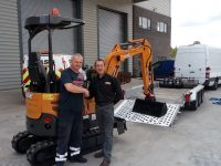 Rockwood Paves The Way !! With a New Case CX17C Zero Swing Mini Excavator